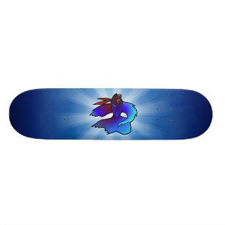 Peixes de Betta dos desenhos animados/peixes de co Shape De Skate 19,7cm
