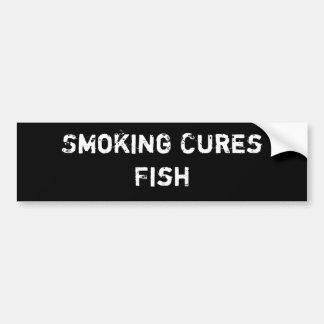 Peixes de fumo das curas adesivo para carro