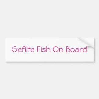 Peixes de Gefilte a bordo do autocolante no vidro Adesivo Para Carro