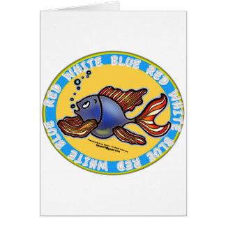 Peixes de jeans cartão comemorativo
