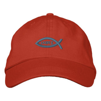 Peixes de Jesus Boné Bordado