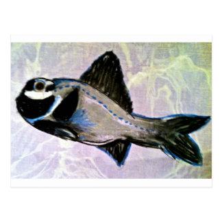 Peixes de lanterna elétrica cartão postal