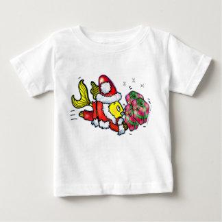 Peixes de Papai Noel - T bonito engraçado do bebê T-shirts