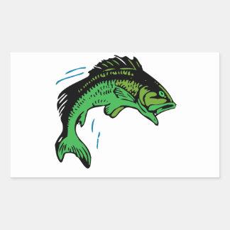 Peixes de salto adesivo retangular