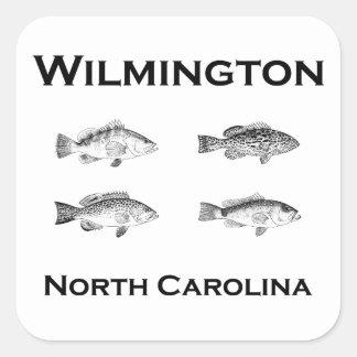 Peixes de Wilmington North Carolina (garoupa) Adesivo Quadrado