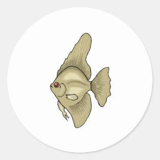 Peixes do anjo adesivo redondo
