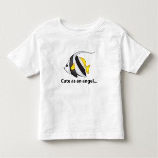 Peixes do anjo camiseta infantil