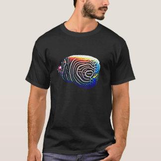 Peixes do anjo do imperador camiseta