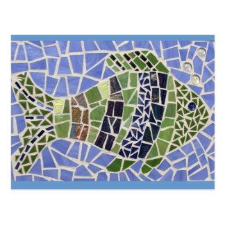 Peixes do mosaico cartão postal