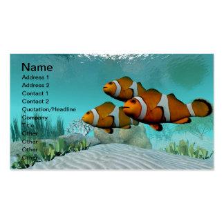 Peixes do palhaço cartões de visitas