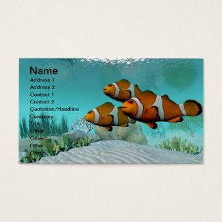 Peixes do palhaço cartão de visitas