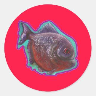 Peixes do Piranha Adesivo