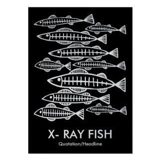 PEIXES do RAIO X - preto (platina) Cartão De Visita Grande