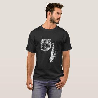 Peixes do sopro com o logotipo do saxofone camiseta