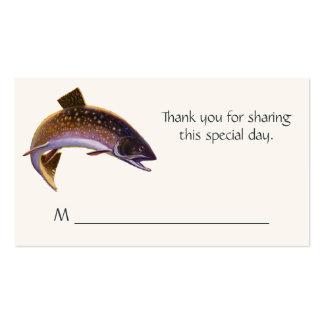 Peixes do vintage, truta da pesca de esportes ou cartão de visita