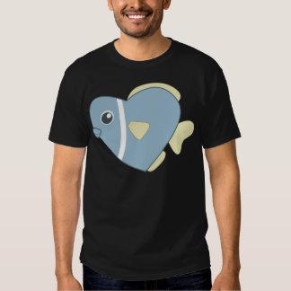 Peixes dos corações dos desenhos animados camisetas