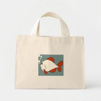 Peixes dos desenhos animados bolsa para compras