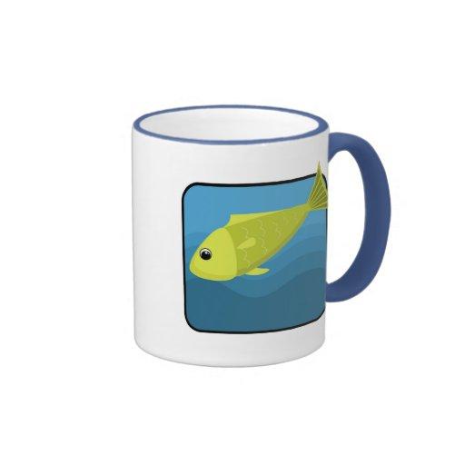 Peixes dos desenhos animados canecas