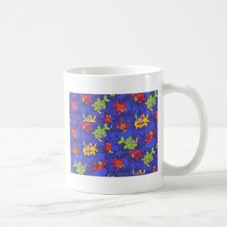 peixes dos desenhos animados caneca