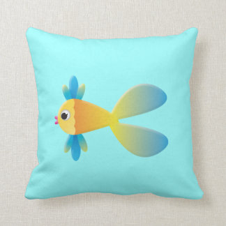 Peixes dos desenhos animados e travesseiro da tart