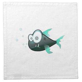 Peixes dos desenhos animados guardanapo de pano