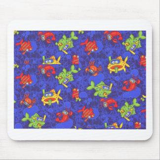 peixes dos desenhos animados mouse pad