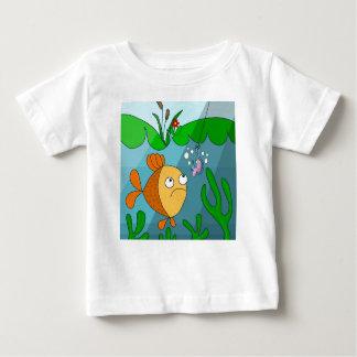 Peixes e sem-fim camiseta para bebê