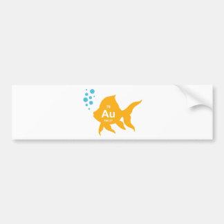Peixes elementares do ouro da mesa periódica adesivo