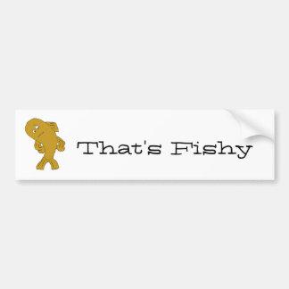 Peixes engraçados dos desenhos animados adesivo
