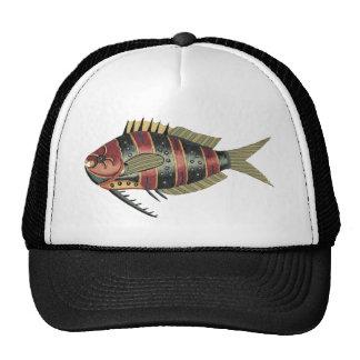 Peixes engraçados listrados boné