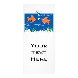 peixes engraçados que pondering as bolas de golfe  panfletos informativos personalizados