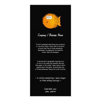 Peixes estupefacção do soprador 10.16 x 22.86cm panfleto