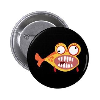 Peixes estúpidos bóton redondo 5.08cm