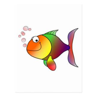 Peixes felizes dos desenhos animados cartão postal