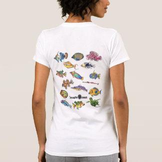 Peixes frente e verso dos desenhos animados de t-shirts
