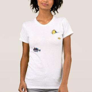 Peixes frente e verso dos desenhos animados de t-shirt