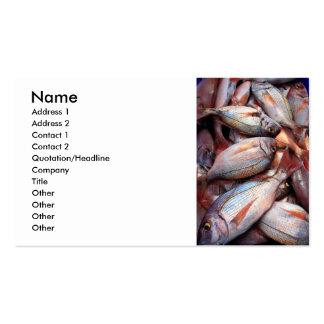 Peixes frescos cartão de visita