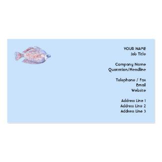 Peixes. Linha vermelha Rainbowfish. Cartões De Visitas