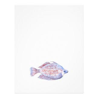 Peixes Linha vermelha Rainbowfish Panfleto Personalizados