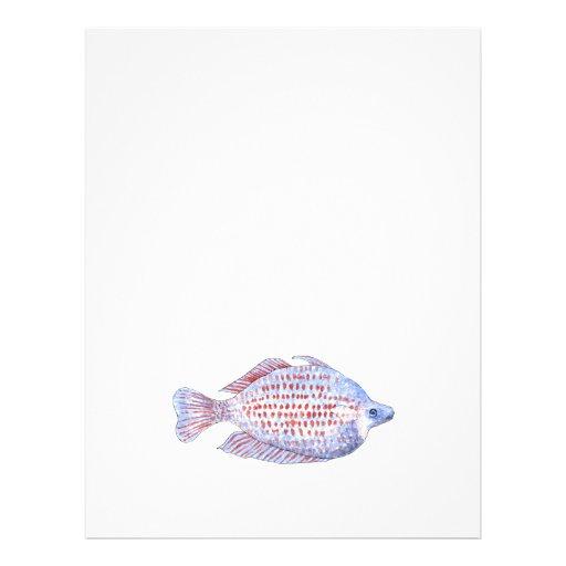 Peixes. Linha vermelha Rainbowfish. Panfleto Personalizados