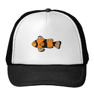Peixes listrados alaranjados bones