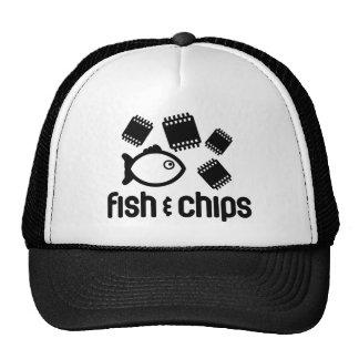 Peixes & microplaquetas bonés