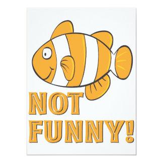 peixes NAO ENGRAÇADOS engraçados do palhaço dos Convite 16.51 X 22.22cm