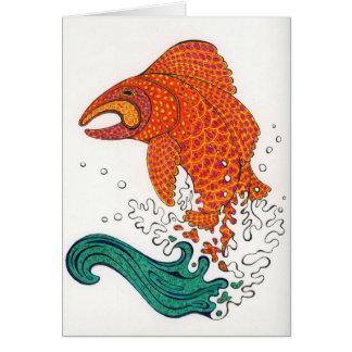 Peixes nórdicos Notecard Cartão