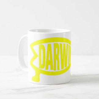 Peixes originais de Darwin (amarelo) Caneca De Café