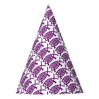 Peixes originais de Darwin (violetas) Chapéu De Festa