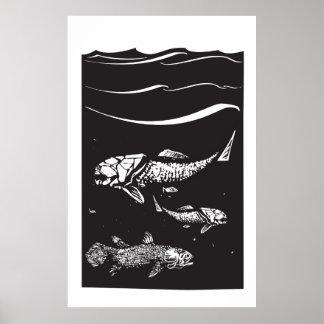 Peixes pré-históricos pôsteres