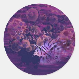 Peixes roxos adesivo