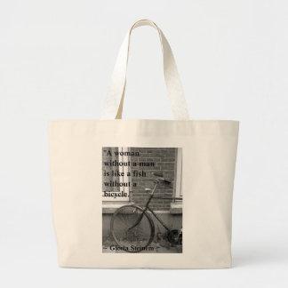 """""""Peixes sem saco de uma bicicleta"""" Bolsa Para Compras"""