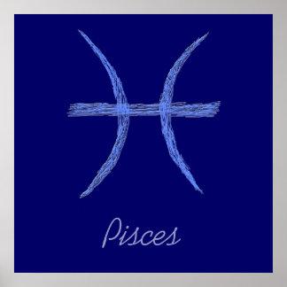 Peixes. Sinal da astrologia do zodíaco Poster